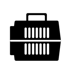 Pet carrier box isolated icon vector image