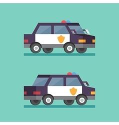 Police car security patrol criminal department vector