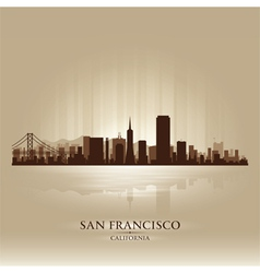 San francisco california skyline city silhouette vector