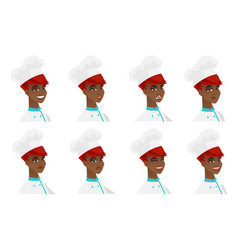 set of chef-cooker characters vector image vector image