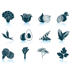 Set of vegetable iconsSet of vegetable iconsSet of vector image