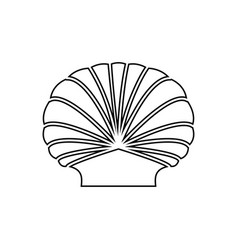 shell it is black icon vector image