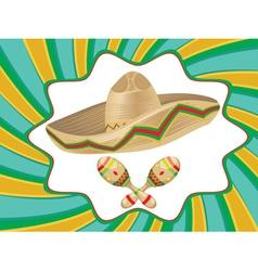 Sombrero and maracas4 vector