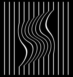 Striped wavy and straight lines vector