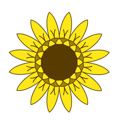 Sunflower gardening logo symbol icon flat style vector
