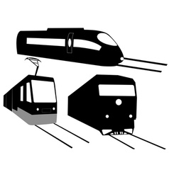 three trains vector image