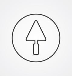 trowel outline symbol dark on white background vector image