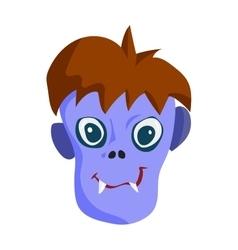 Zombie head cartoon character vector