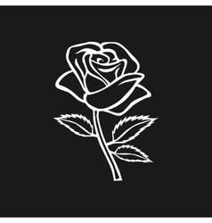 Rose sketch rose motif flower design elements vector