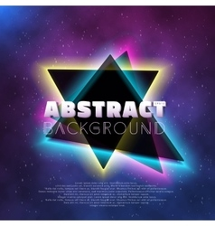 Music Abstract Poster Cover 1980s Style Background vector image