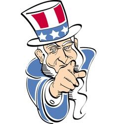 Patriotic American President vector image