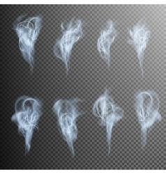 Isolated realistic cigarette smoke waves eps 10 vector