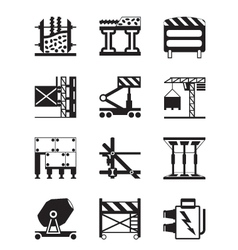 Construction equipment and materials vector