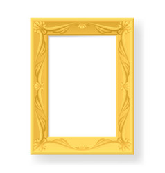 wooden frame for photos on white background for vector image