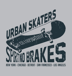 urban skaters poster vector image