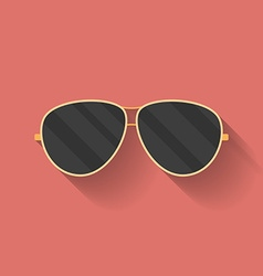 Icon of police or cop sunglasses glasses flat vector
