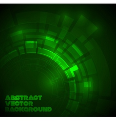 Abstract dark green technical background vector