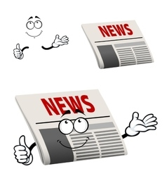 Newspaper character with news headline vector