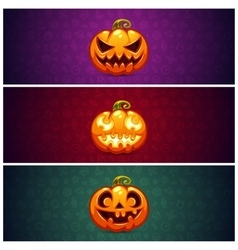Horizontal halloween banners background with vector
