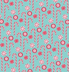 Candy cane pattern vector