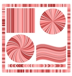 Pink frame and circles vector