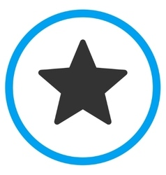 Star flat icon vector