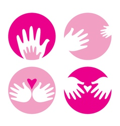 Motherhood helpful hands vector