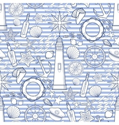Graphic nautical pattern vector