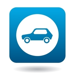 Sign cars icon simple style vector