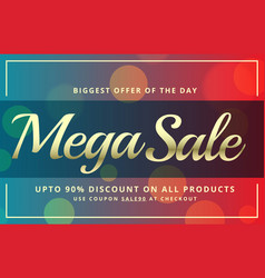 Abstract sale voucher template design with vector