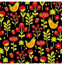 Beautiful seamless texture with birds vector image vector image