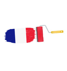 brush stroke with france national flag isolated on vector image vector image