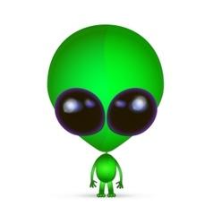 Cartoon Character Funny Alien vector image