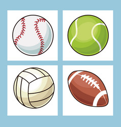 collection balls sport icons vector image vector image