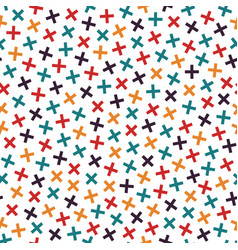 colorful seamless memphis pattern in bright colors vector image