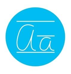 Cursive letter a line icon vector image vector image