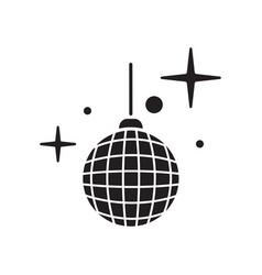 disco ball icon shiny illuminated simbol vector image vector image