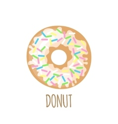 Donut icon on a white background vector image