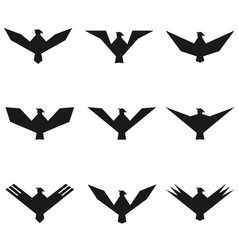 Eagle symbol set vector