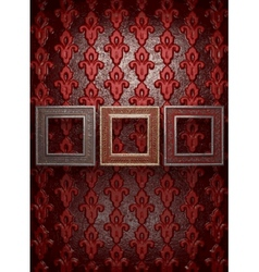 frames on wall vector image