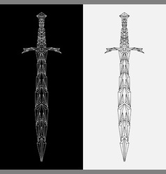 geometric sword vector image