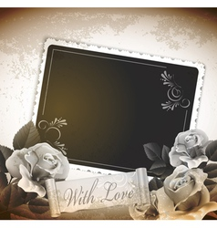 grunge romantic vintage background vector image vector image