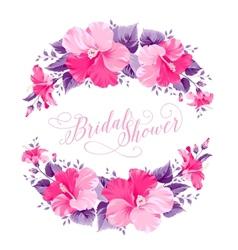 Hibiscus flower wreath vector image vector image