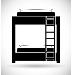 Hotel service bed vector