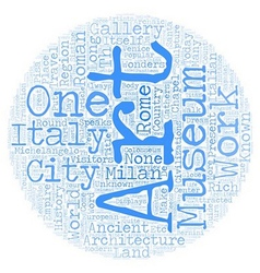 Italian travel guide text background wordcloud vector image vector image