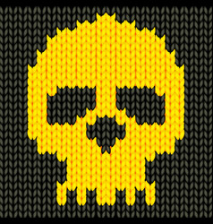 Knitted skull vector image