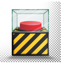 panic button isolated red alarm shiny vector image vector image