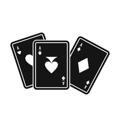 Playing cards icon simple style vector image