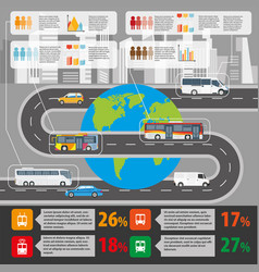 public transport and passenger statistics vector image vector image