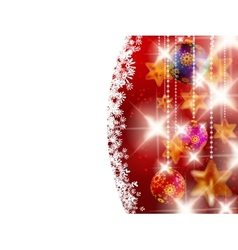 Red shiny christmas background vector image vector image